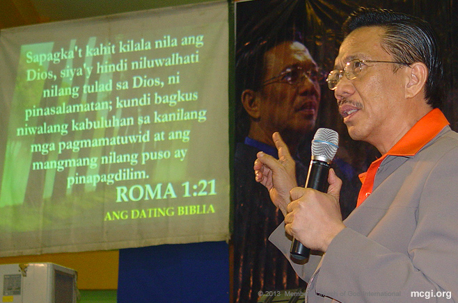 "Bro. Eli Soriano makes it a point to always be biblical in his teachings. Hence, his tagline ""Basa"" or ""Read."""