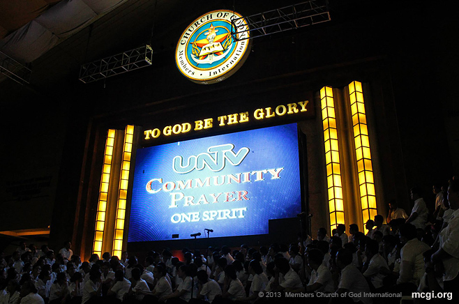 People can now tune in to the MCGI-hosted UNTV Community Prayer, five times a day to pray.