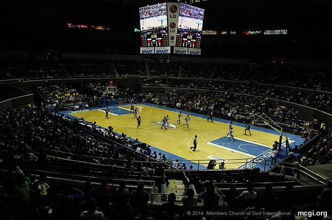One of the games of the UNTV Cup Season 1 at the Smart-Araneta Coliseum in Quezon City, Philippines.