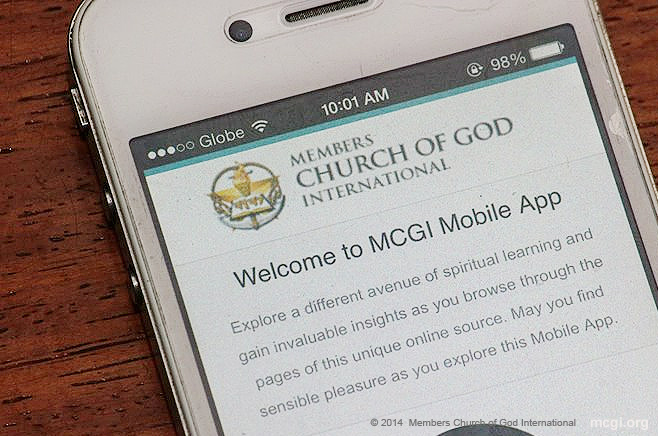 The MCGI App launched in January 2013 where mobile users can join the 24/7 Community Prayer online.