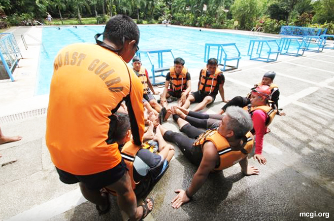 The UNTV News and Rescue Team recently took part in a Water Rescue Drill and Seminar conducted by the Philippine Coast Guard. (Photo courtesy of PVI)