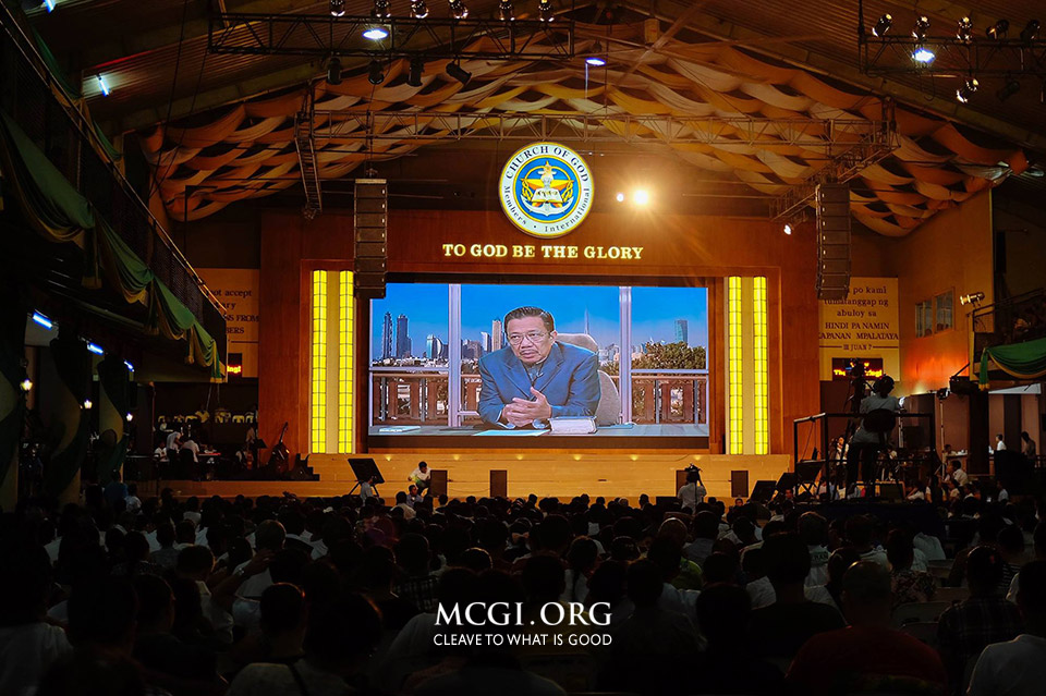 Bro. Eli Soriano, Overall Servant to MCGI, regularly serves topics to the MCGI congregants through live streaming. (Photo courtesy of MCGI-Photoville)