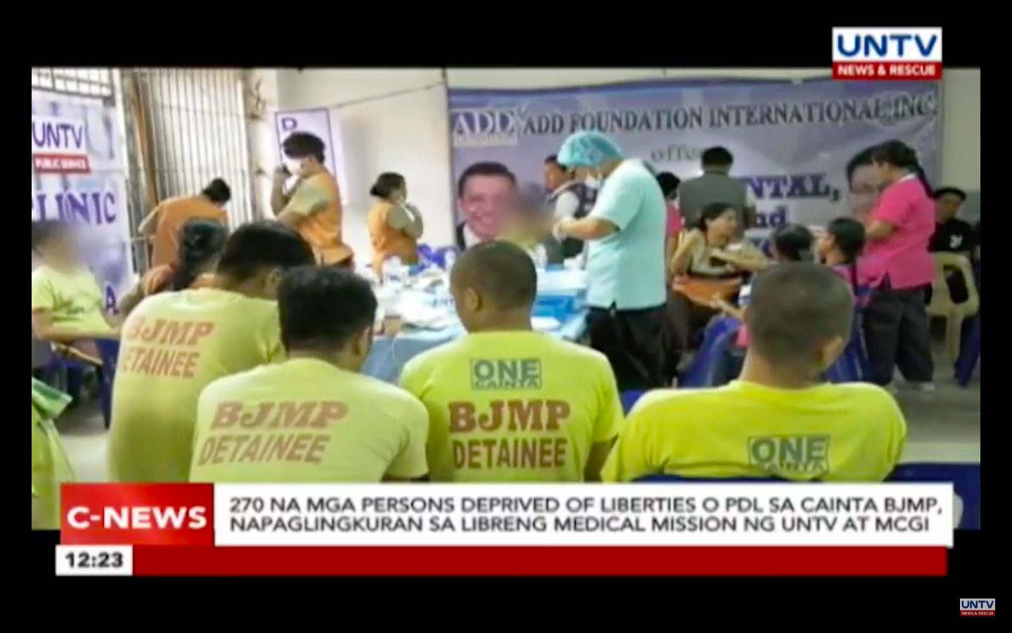 MCGI and UNTV Provide Free Health Services for Persons Deprived of Liberties (PDL) in BJMP, Cainta
