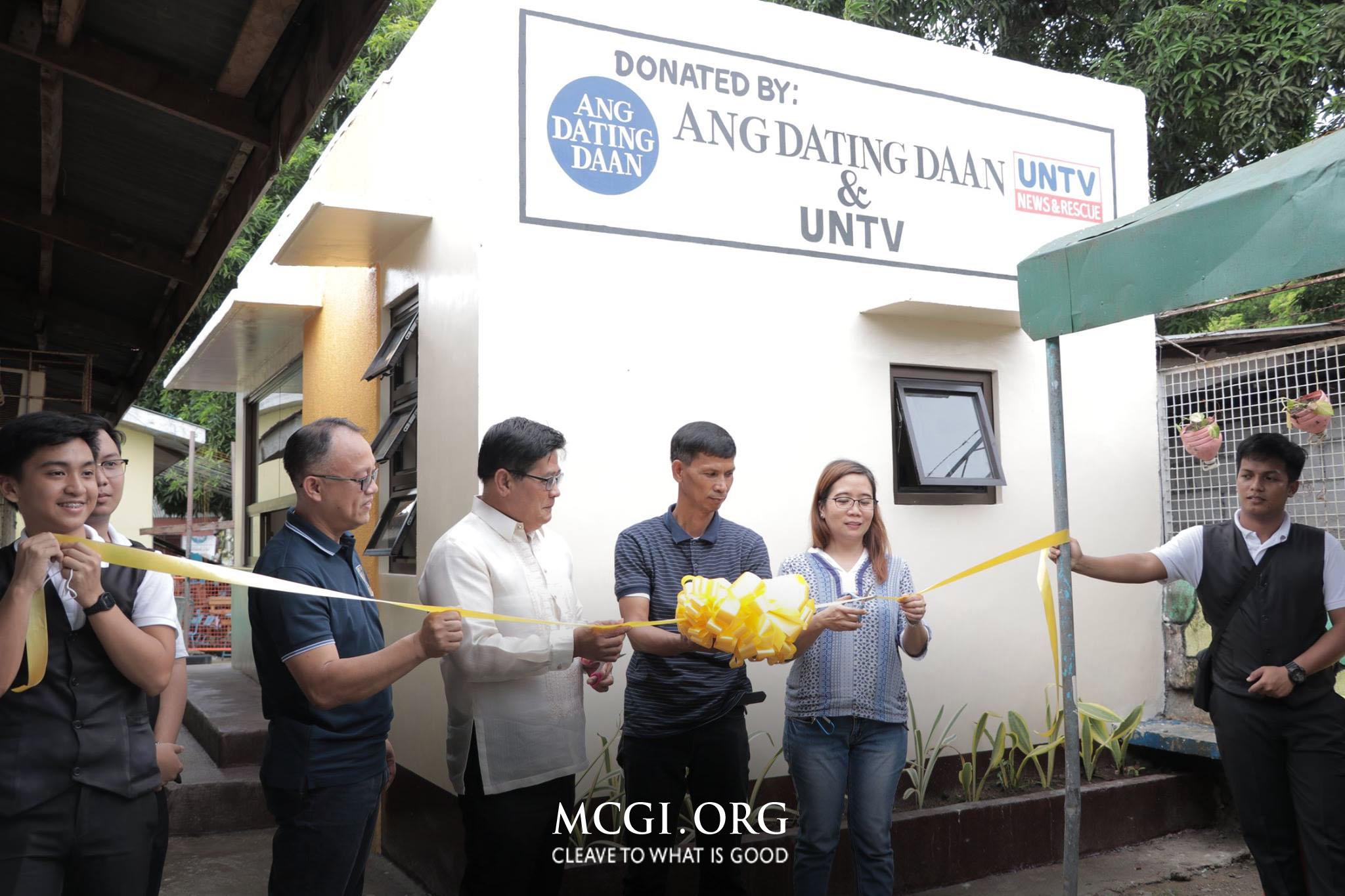 MCGI and UNTV Donate School Canteen to Calumpang Elementary School, Ambulance to Brgy. Calumpang