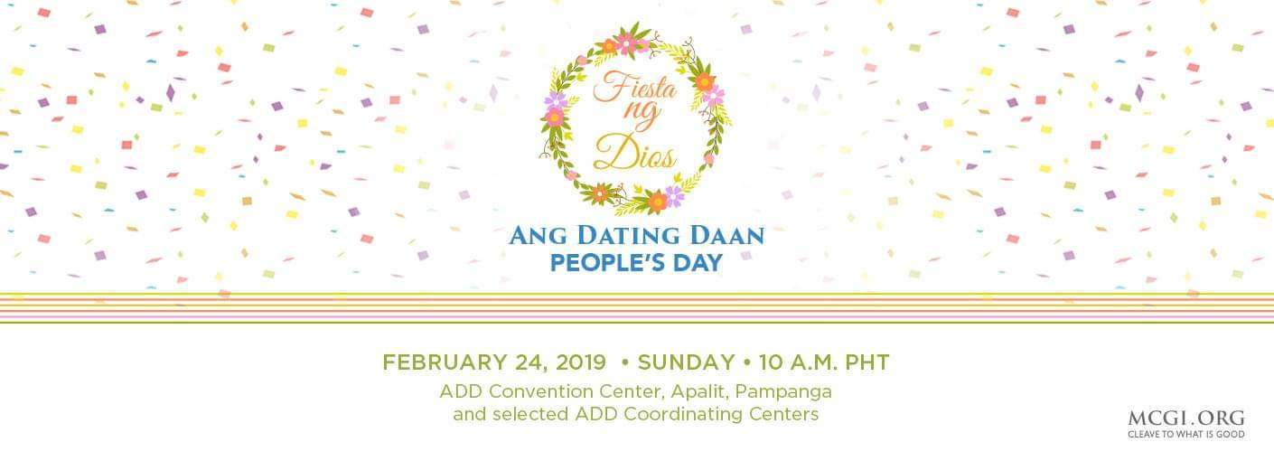 MCGI to Hold Feast Dedicated to God on Feb 24