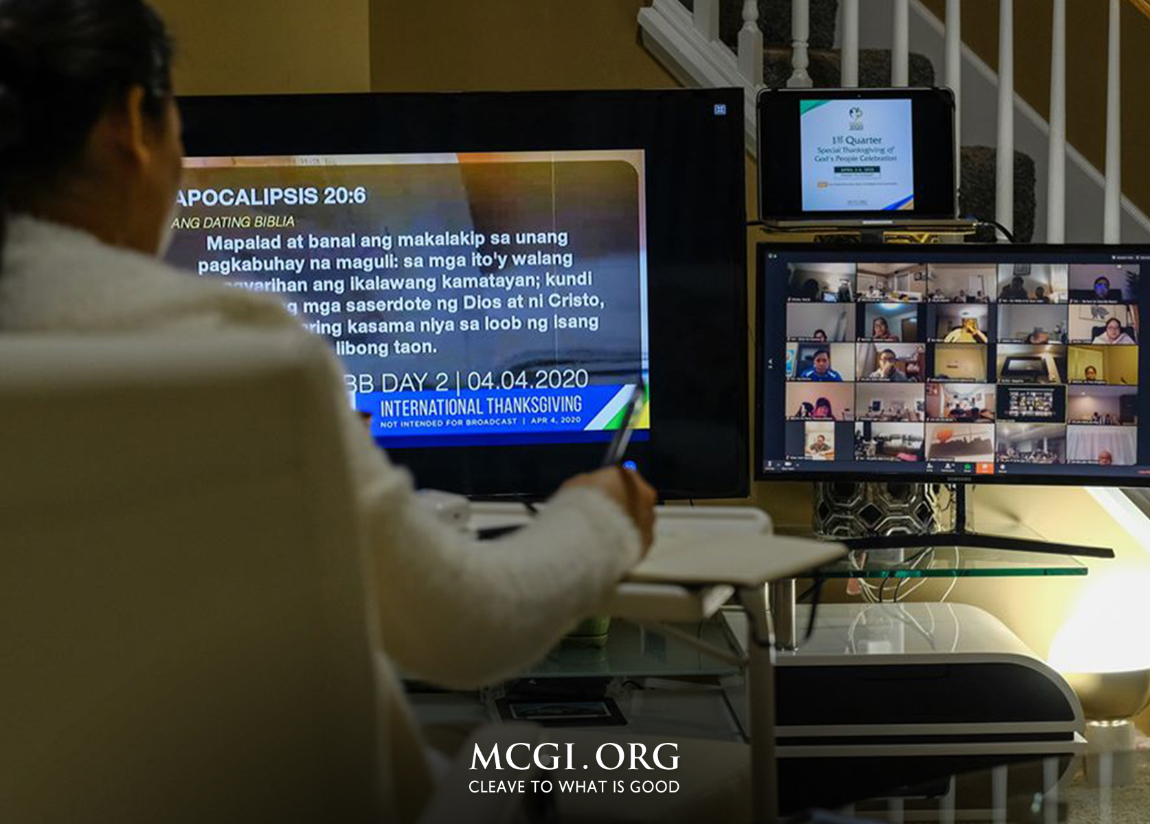 Amidst Covid-19 Threat: MCGI Goes Online for 1st Quarter Thanksgiving