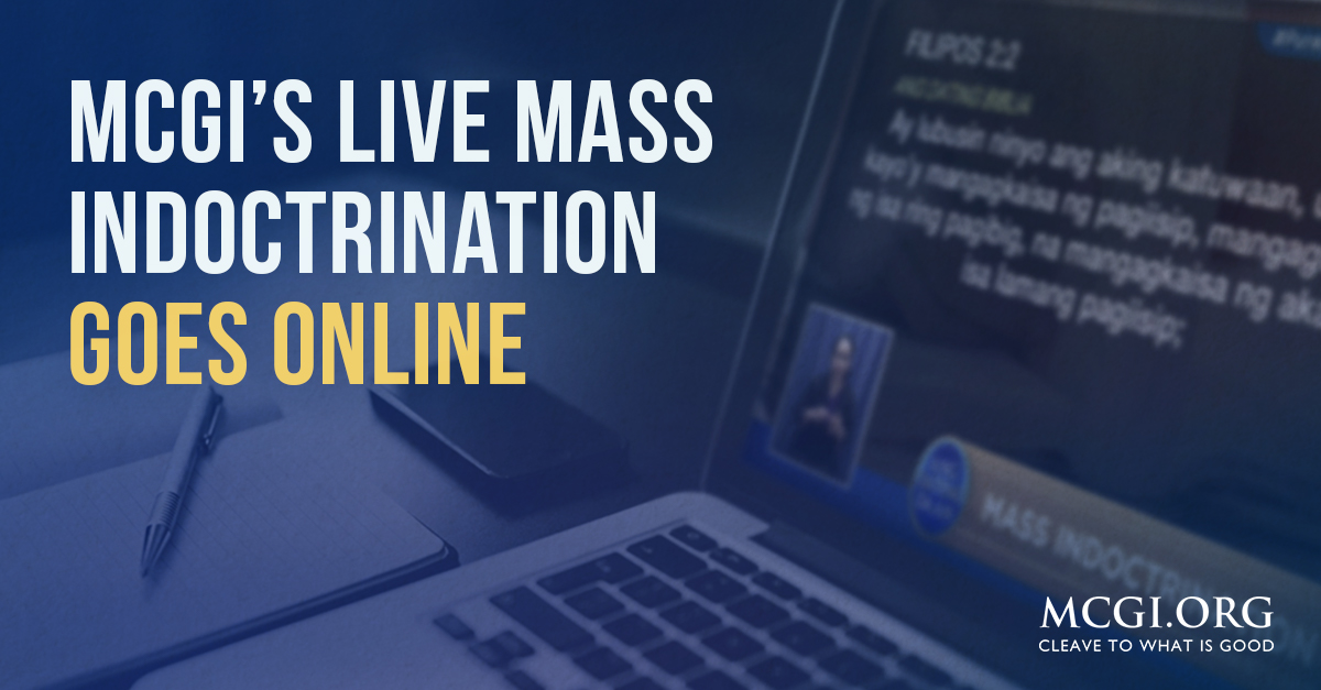 MCGI's Live Mass Indoctrination Goes Online