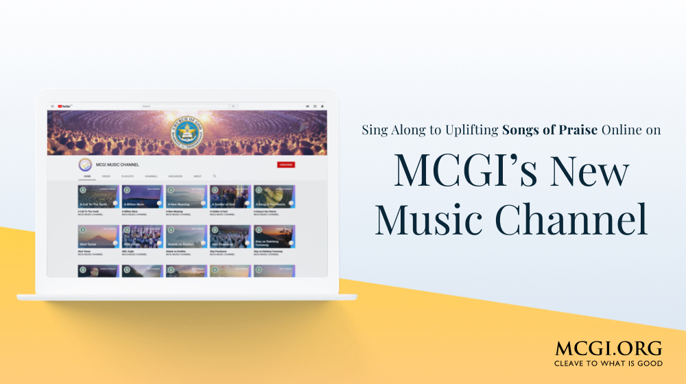 Sing Along to Uplifting Songs of Praise Online on MCGI's New Music Channel