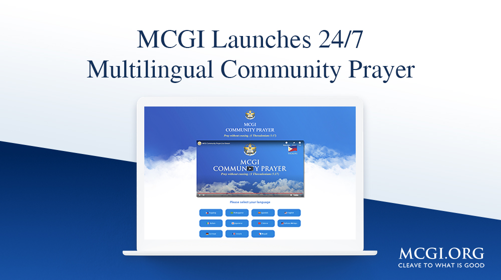 MCGI Launches 24/7 Multilingual Community Prayer