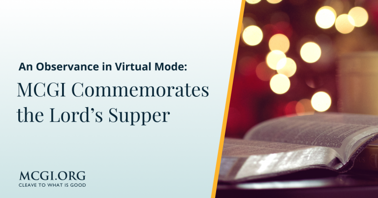 An Observance in Virtual Mode_ MCGI Commemorates the Lord's Supper