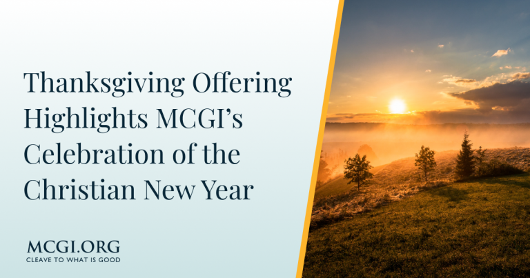 Thanksgiving Offering Highlights MCGI's Celebration of the Christian New Year