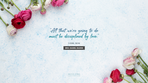All that we're going to do must be disciplined by love. - Desktop